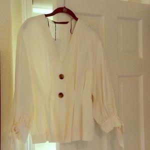 Creamy Linen Jacket